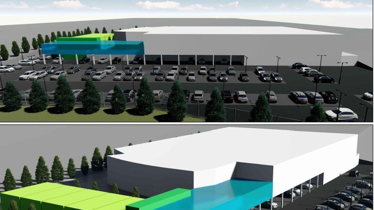 Diseño del nuevo centro comercial que se construirá en La Marazuela