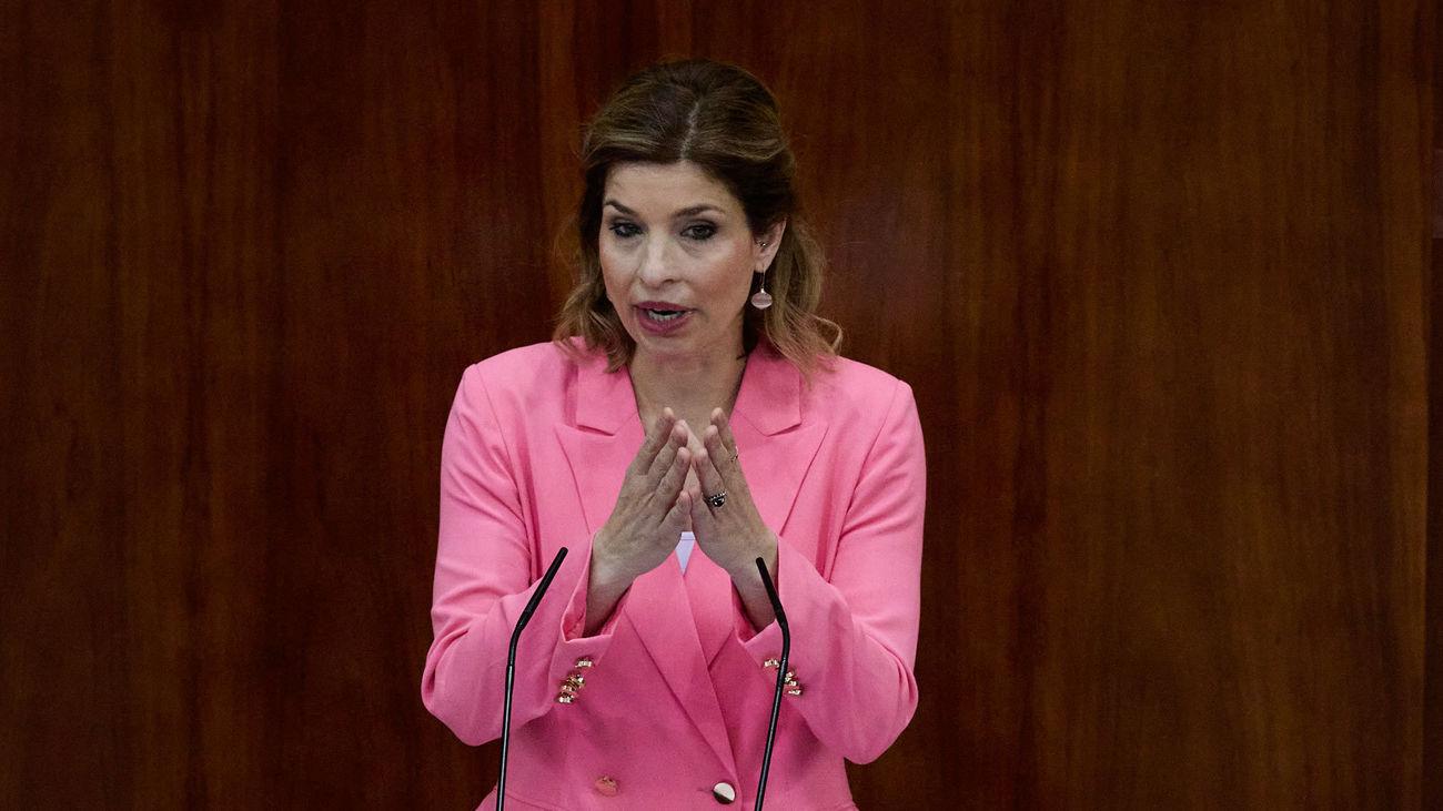 La portavoz del PSOE en la Asamblea de Madrid, Hana Jalloul