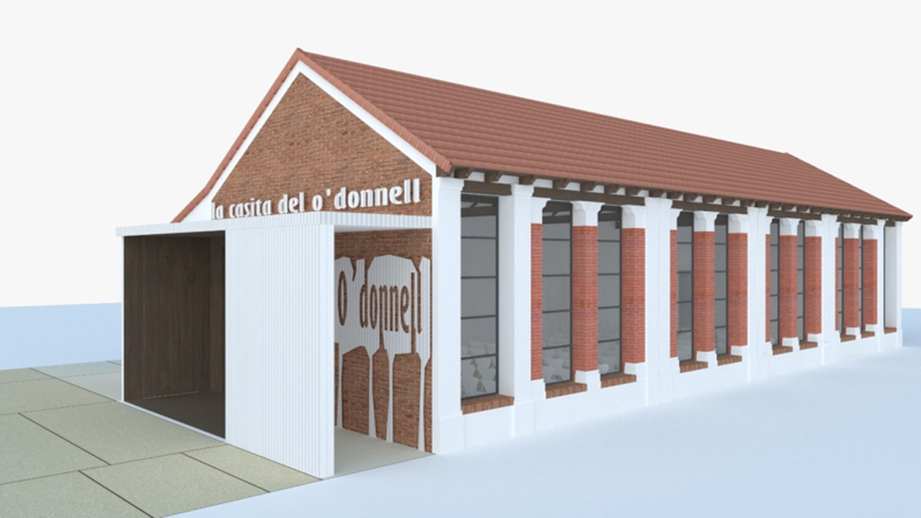 Simulación del estado final de la Casita del Parque O'Donnell de Alcalá de Henares