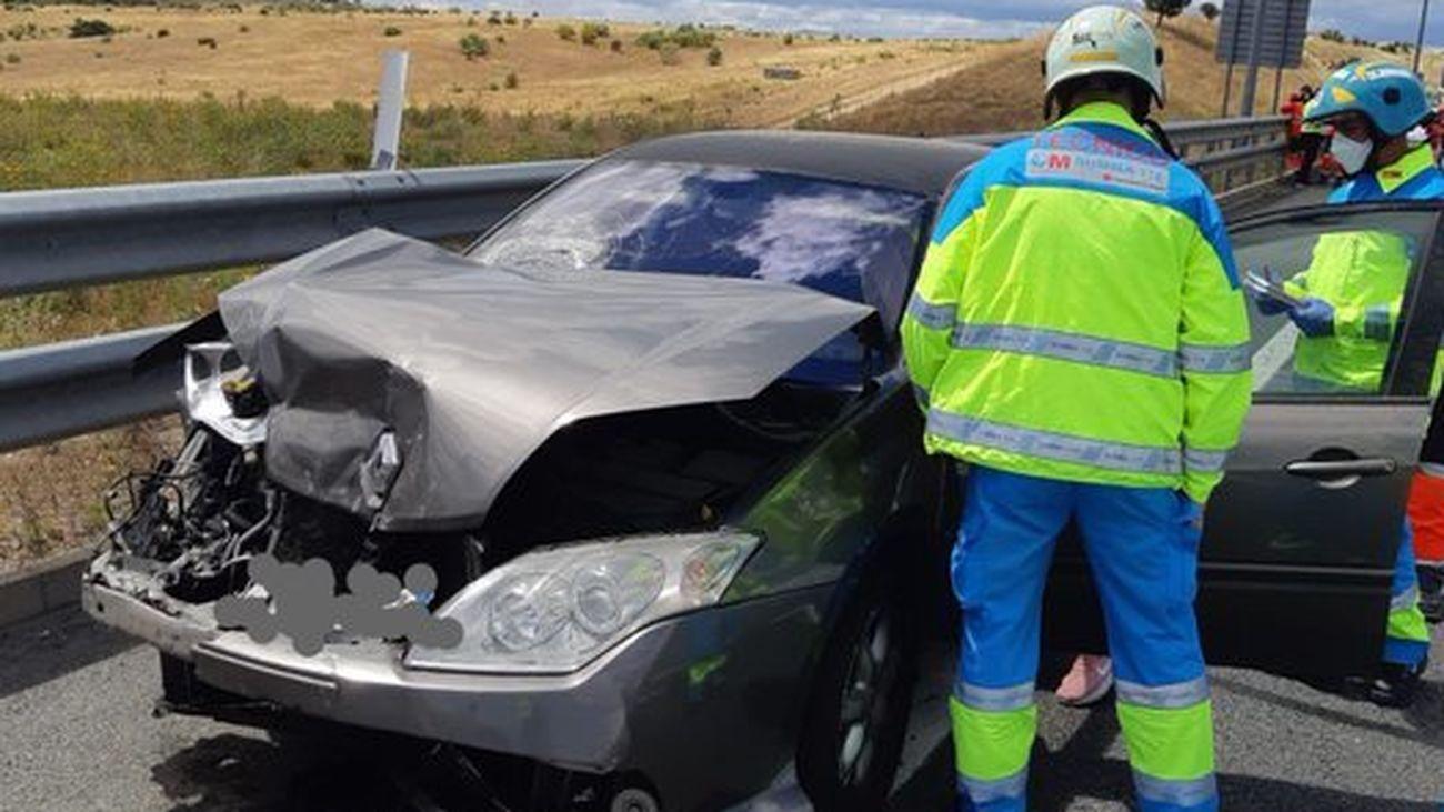 Uno de los vehículos implicados en el accidente de la M50