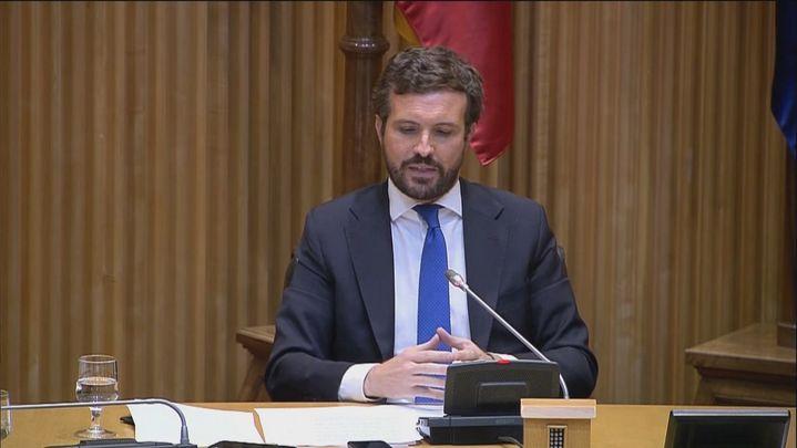 """Casado acusa a Sánchez de buscar un """"cambio de régimen"""" con los indultos"""