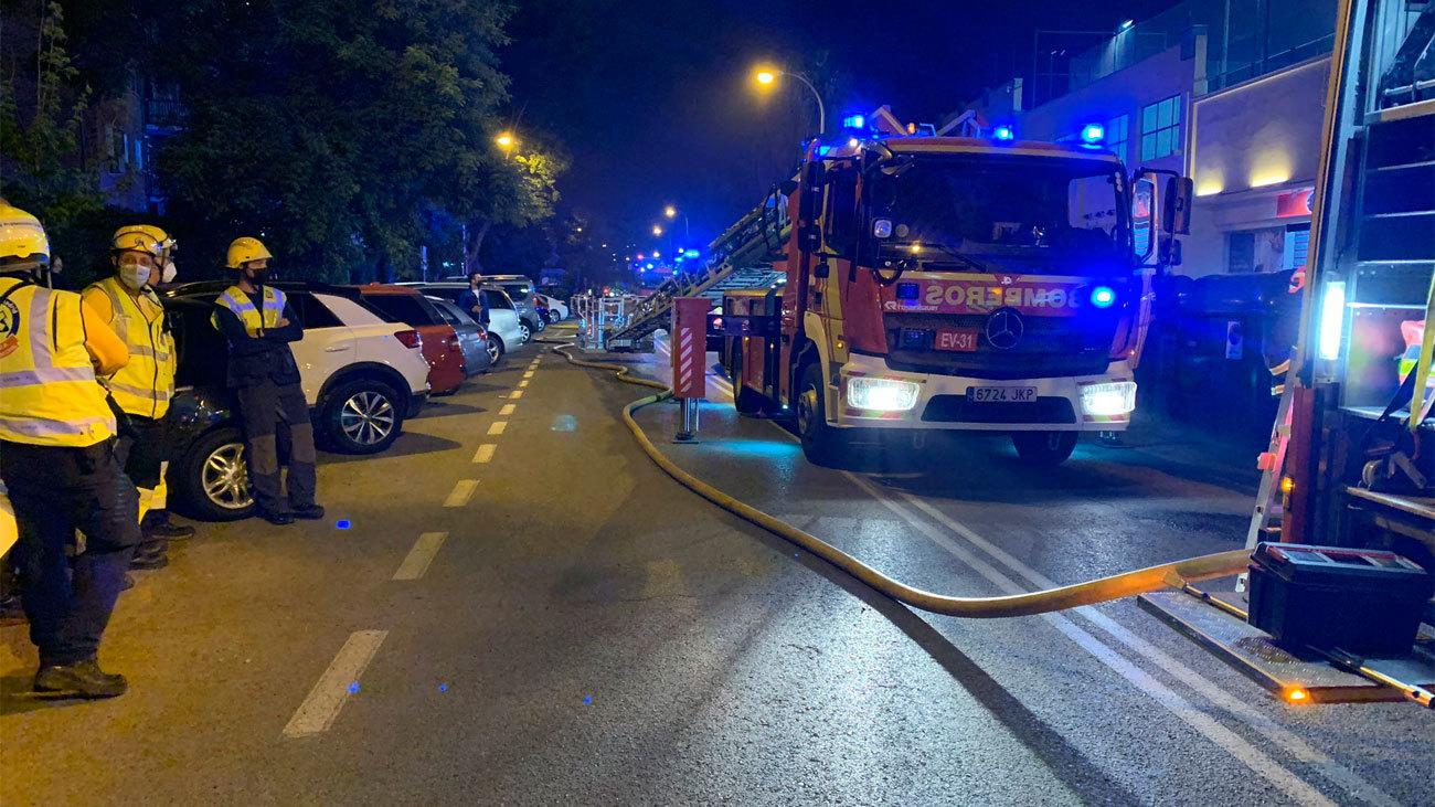 Incendio de un restaurante del centro comercial Ermita del Santo