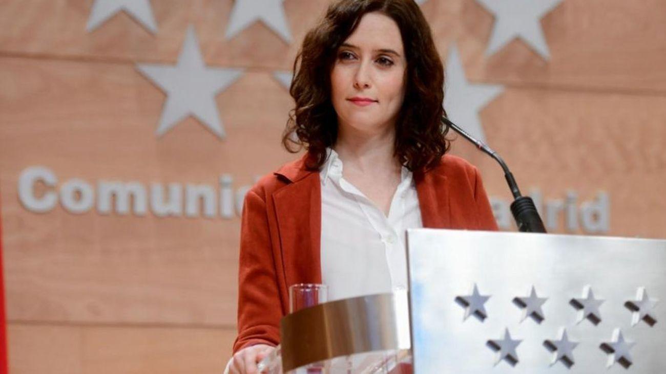 Comparecencia pública de la presidenta de la Comunidad de Madrid, Isabel Díaz Ayuso
