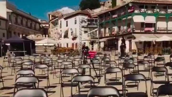 Chinchón se convierte en el gran escenario de 'vidas de cine'