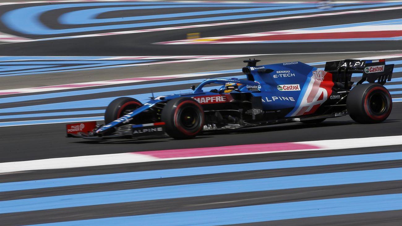 Fernando Alonso, en una carrera