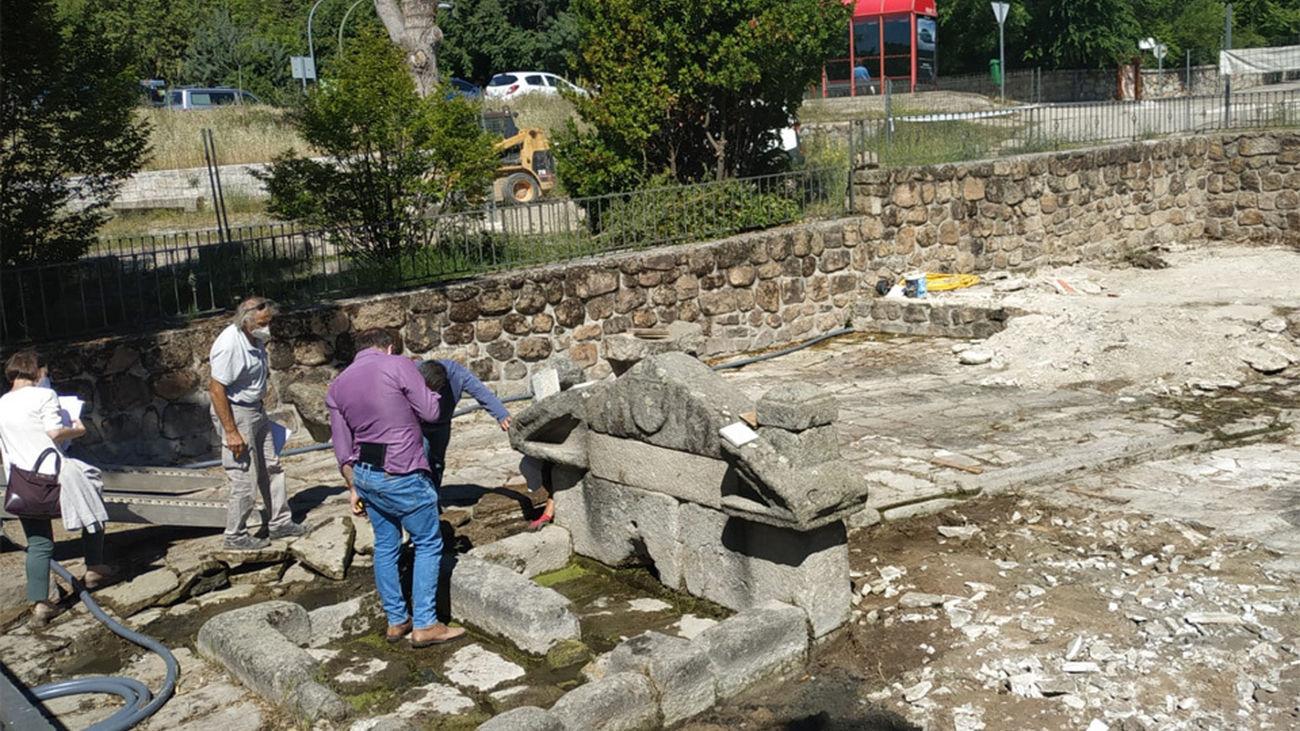 Comienzan las obras de restauración y conservación de la Fuente de las Ermitas de Manzanares El Real
