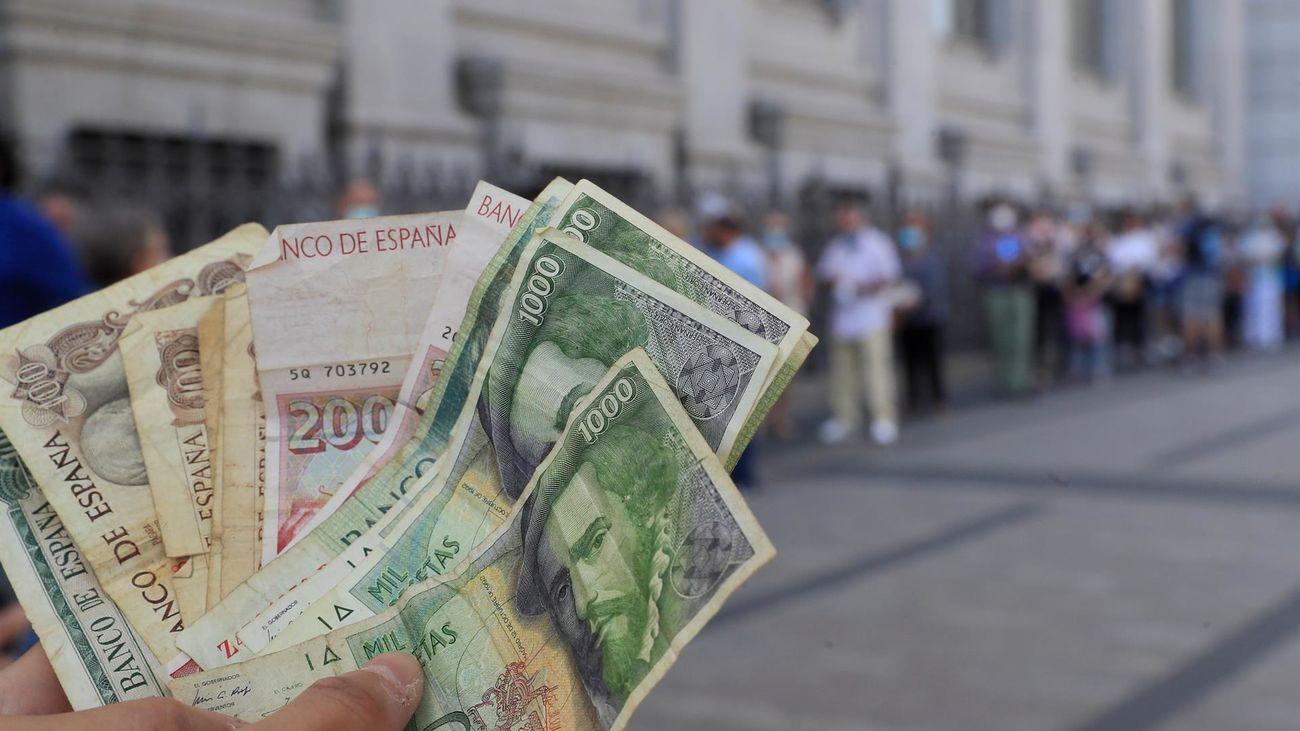 Los españoles se han quedado con 1.575 millones de euros en pesetas sin canjear