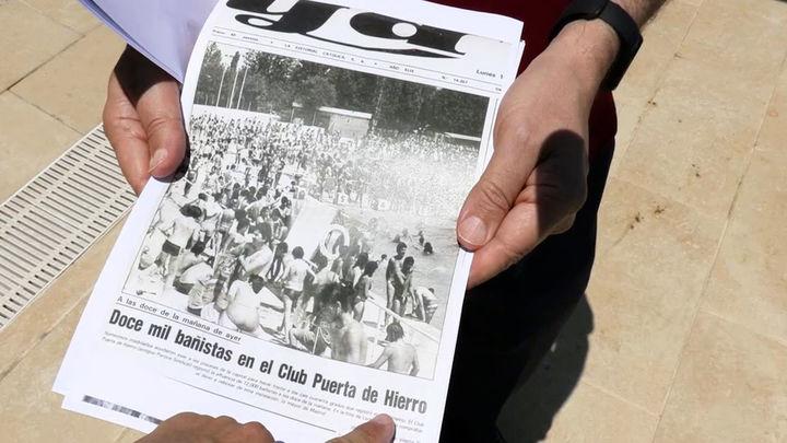 Cuando el Parque Sindical era la auténtica playa de Madrid