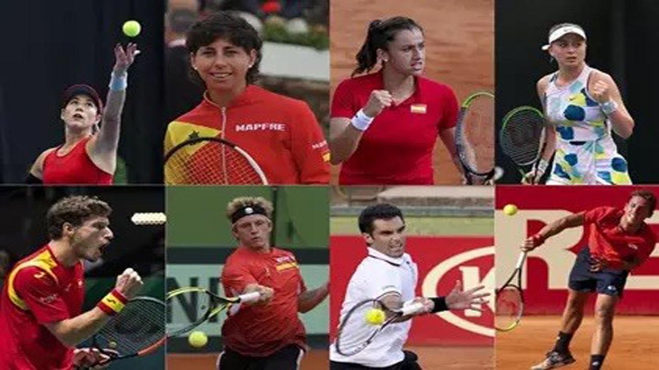 El equipo español de tenis olímpico en Tokio