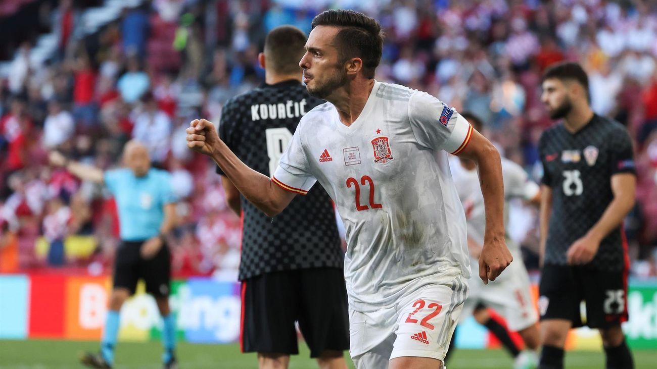 Pablo Sarabia ante Croacia