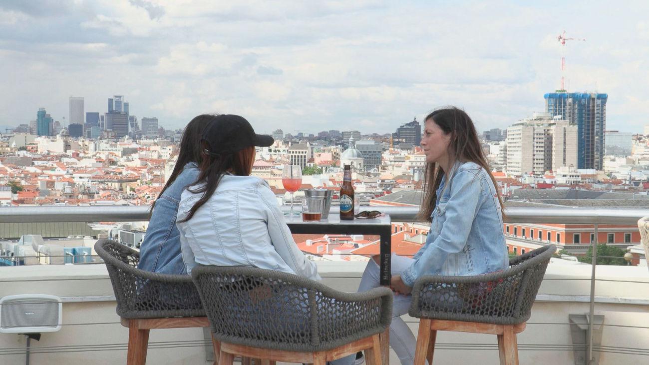 Terraza con vistas en Madrid