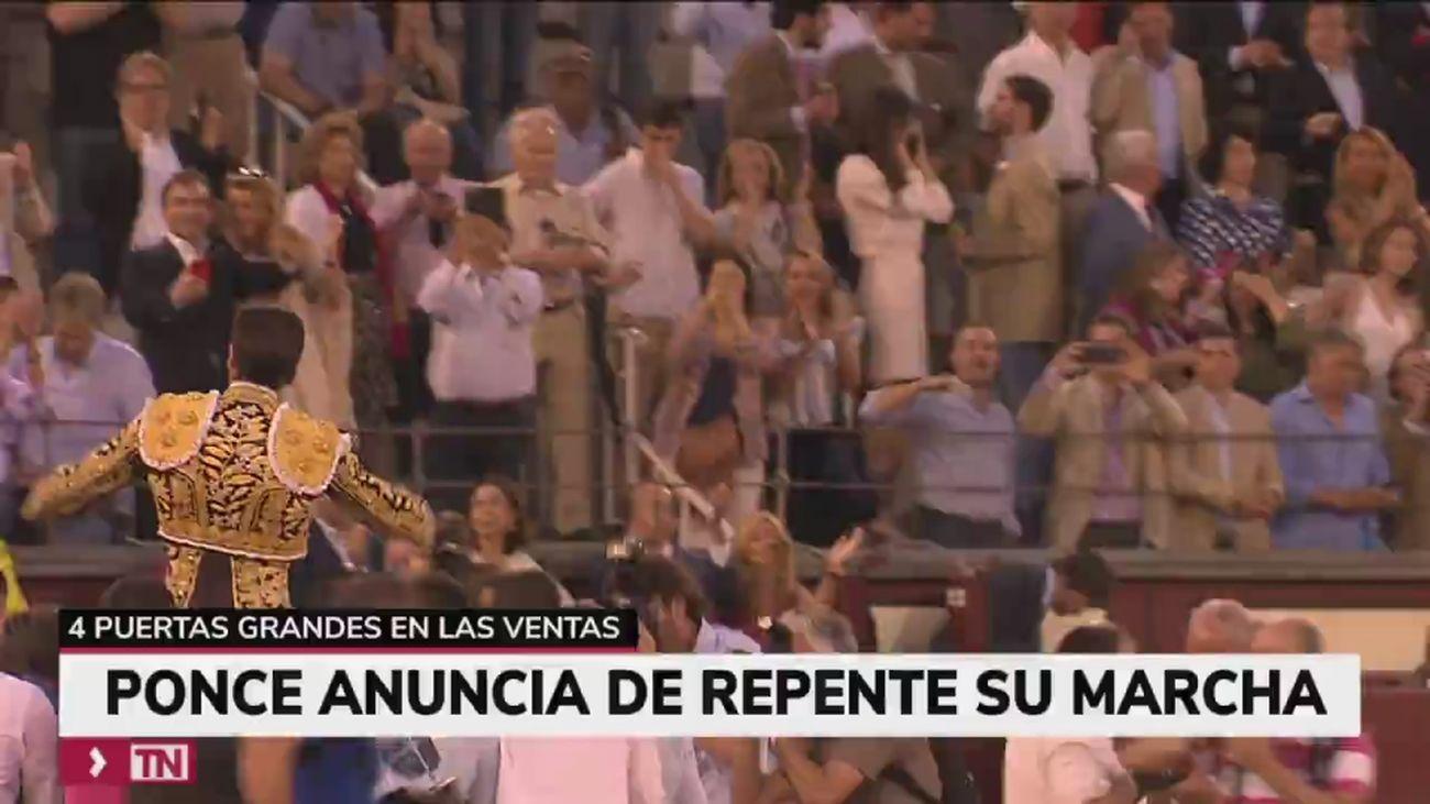 """El torero Enrique Ponce anuncia su retirada """"por tiempo indefinido"""""""