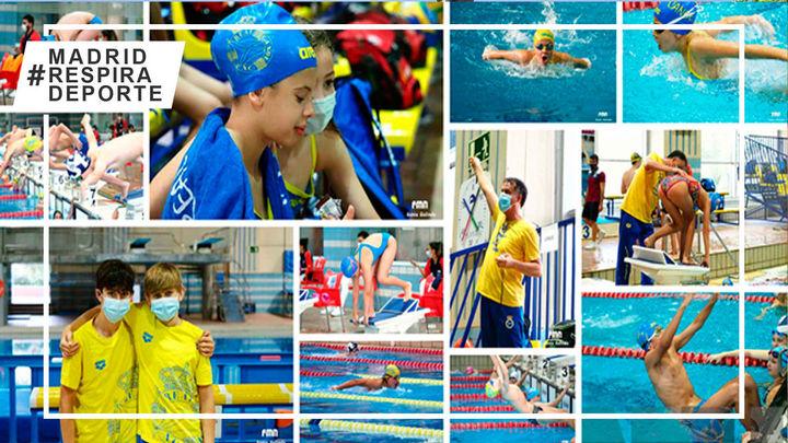 El Valle, Gredos San Diego y Real Canoe el pódium del Campeonato de Madrid alevín de natación