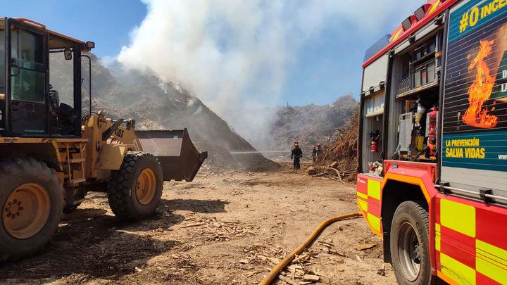 Incendio en una planta de compostaje en San Sebastián de los Reyes