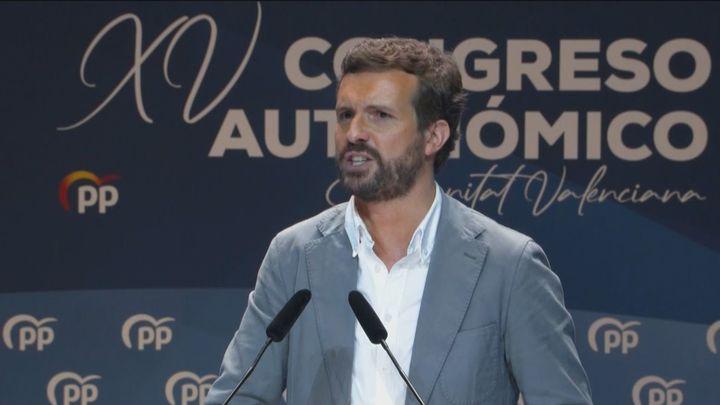 Casado acusa al PSOE de venderse a los independentistas por dos años de poder