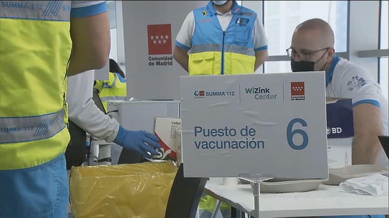 Punto de vacunación de Madrid