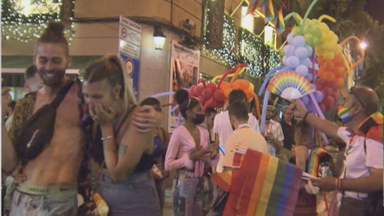 Celebraciones del Orgullo en la zona de Chueca en Madrid
