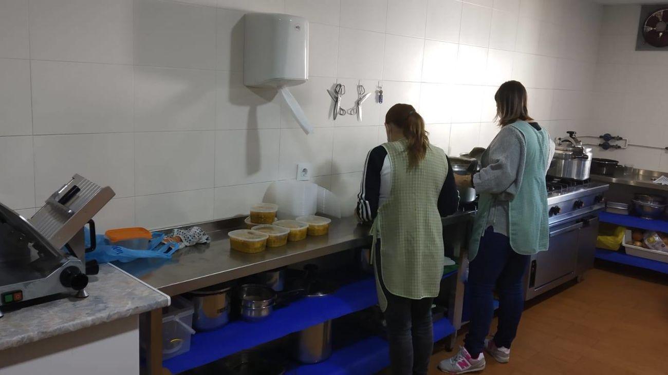 Cocina del comedor social 'La Casita'