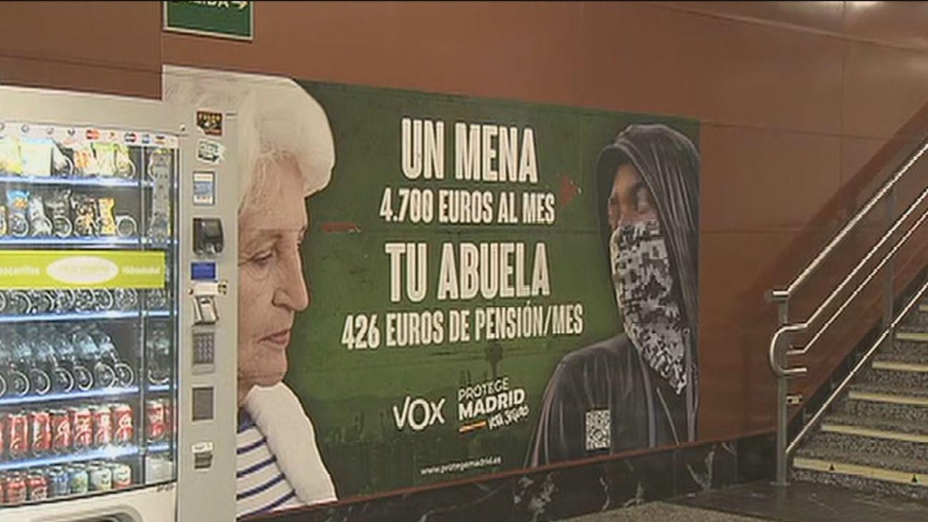 El polémico cartel de Vox en el Metro
