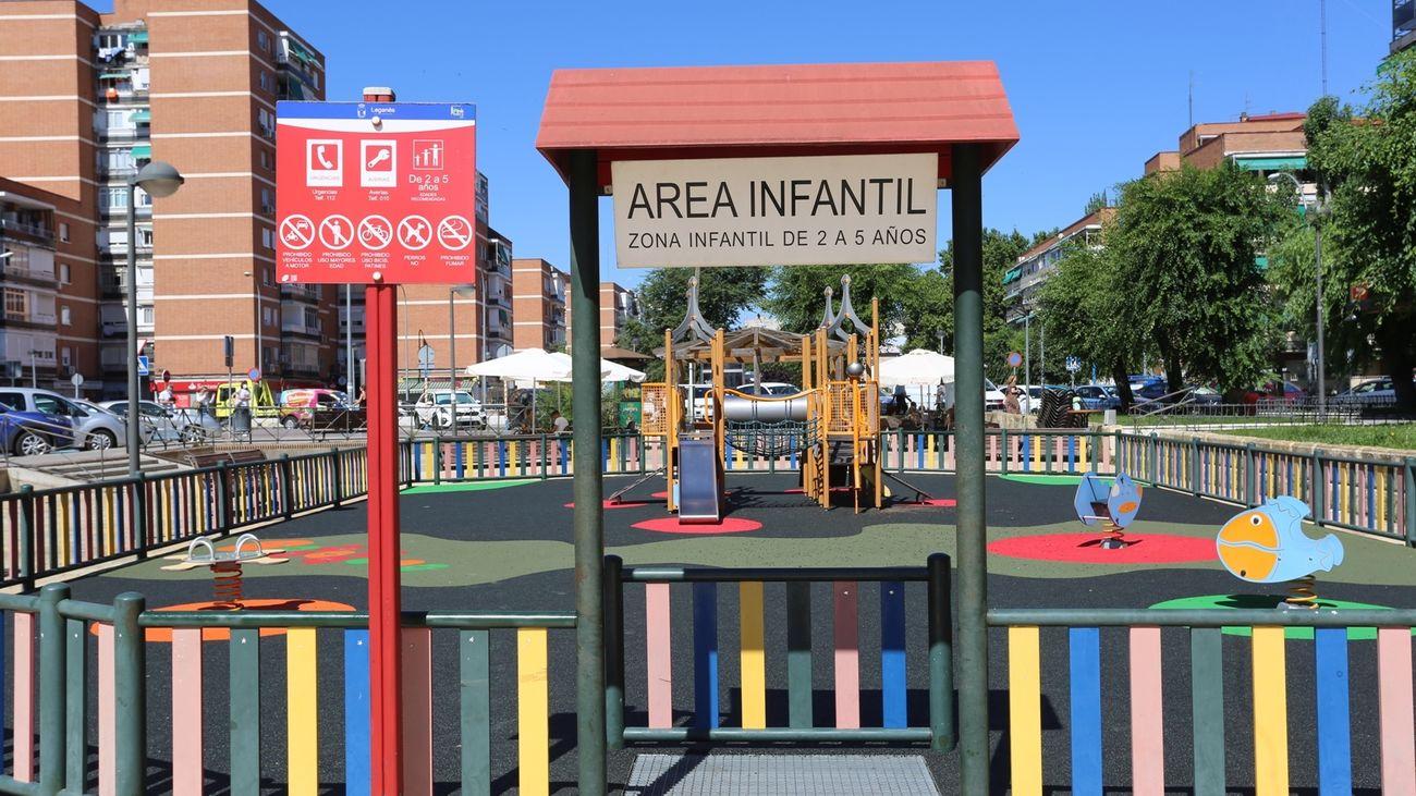 Área Infantil de la calle Alcudia, en Leganés