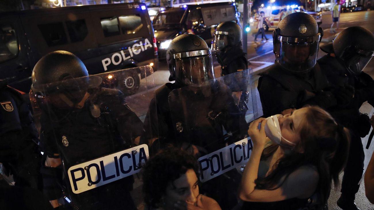 Actuación policial en la protesta por la muerte de Samuel