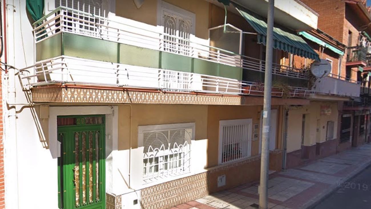 Viviendas afectadas en la calle de la Presa de San Fernando de Henares