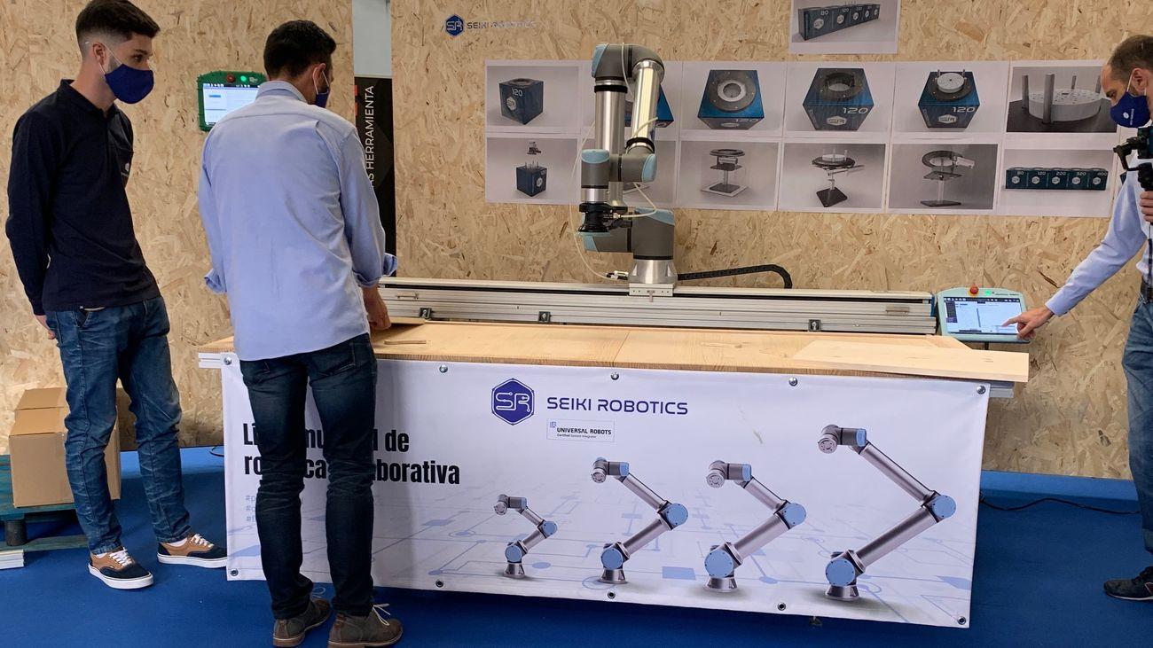 Uno de los robots industriales creados en Leganés