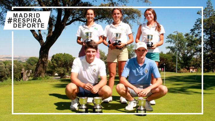 Blanca Fernández y Casilda Allendesalazar, campeonas de Madrid de golf sub25 y sub'15