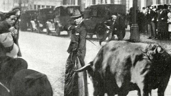 El toro que corrió por la Gran Vía de Madrid