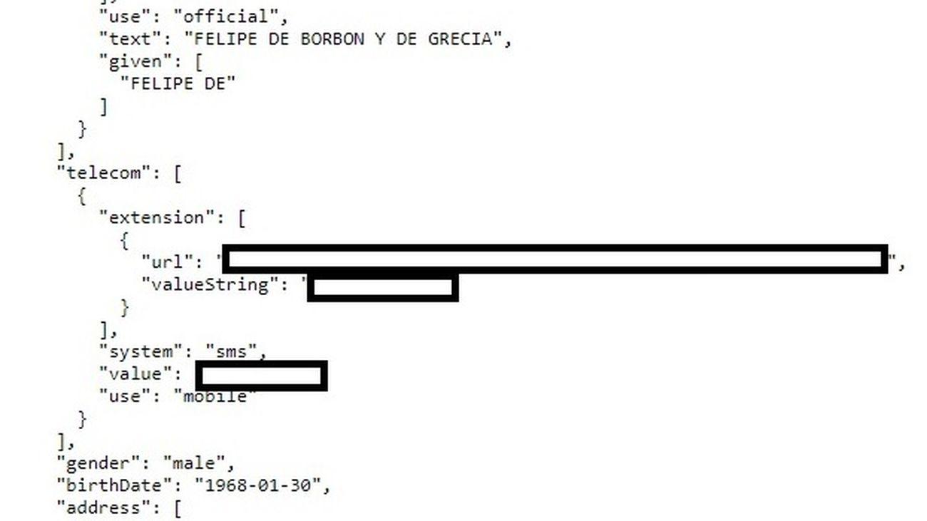 Datos del rey Felipe VI que se han podido ver por el fallo de ciberseguridad de la sanidad madrileña