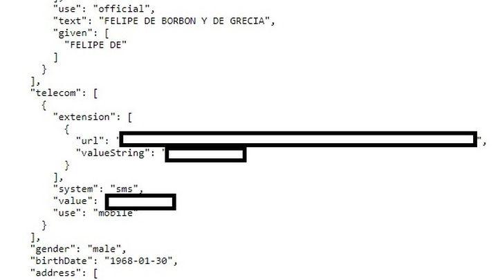 Telemadrid entrega a la Policía las pruebas del error de seguridad de Sanidad que expuso datos privados del rey