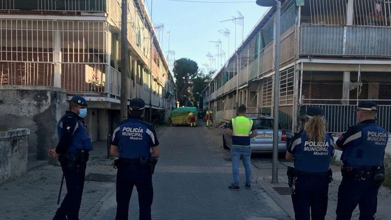 La Policía Municipal de Madrid desplegada en la UVA de Hortaleza