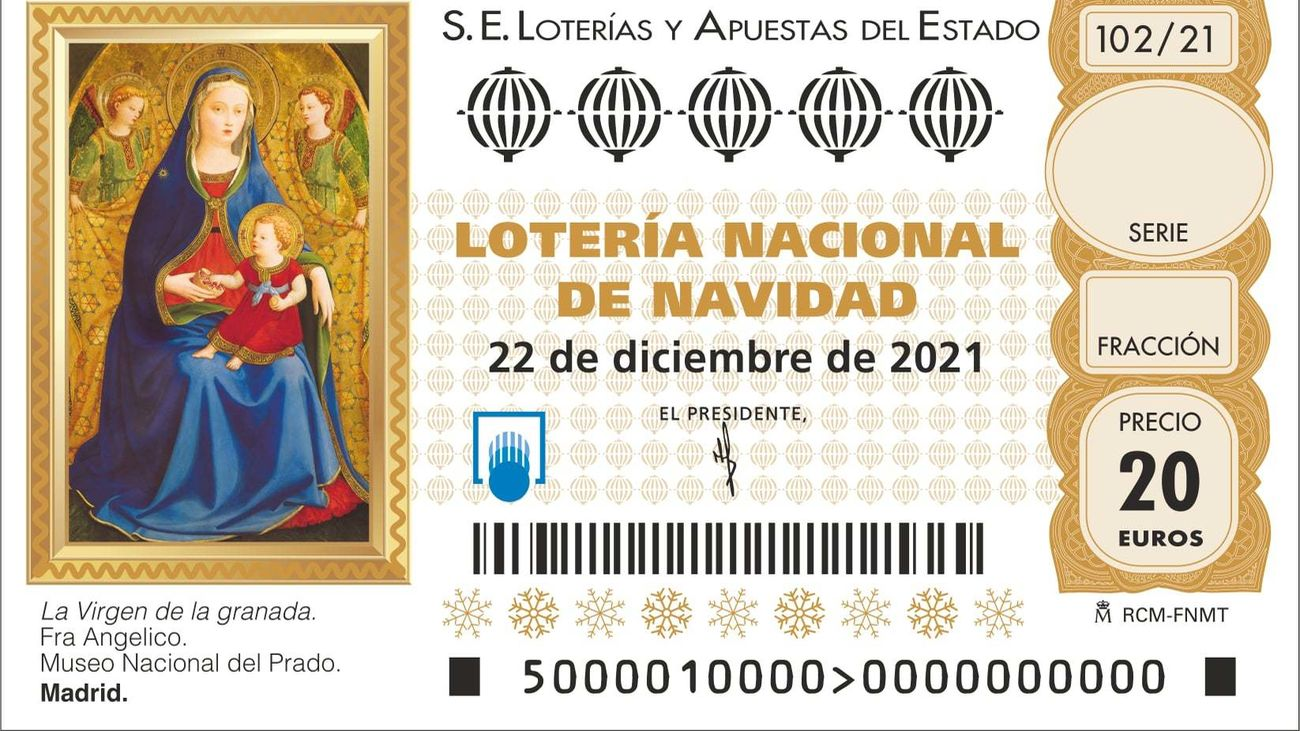 Décimo de Lotería de Navidad de 2021