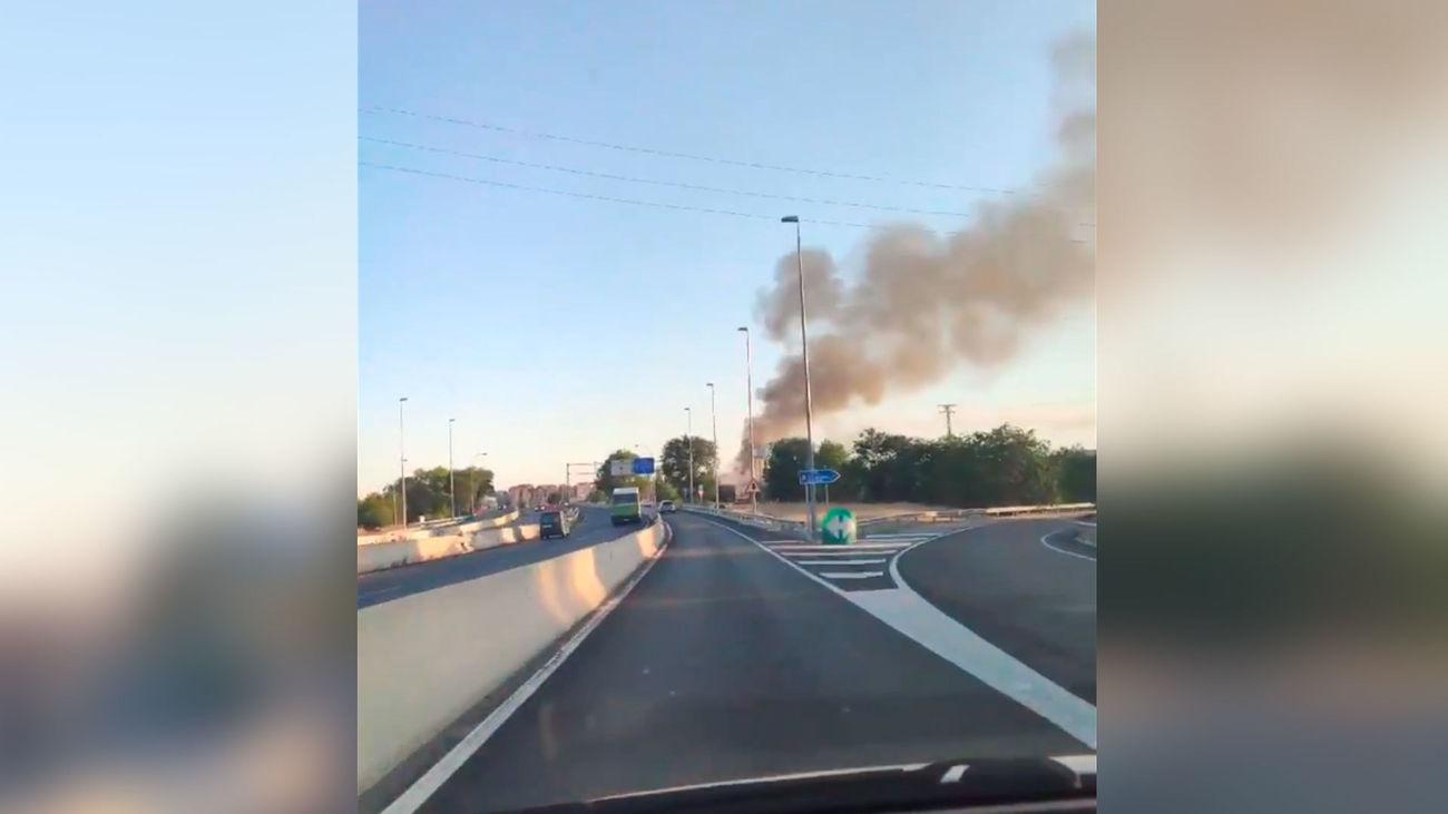Incendio en un antigua cárnica de Leganés