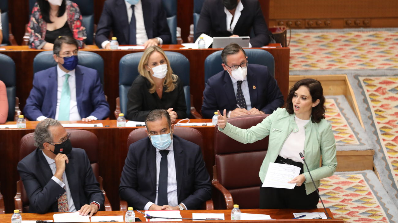 Isabel Diaz Ayuso, en la Asamblea de Madrid