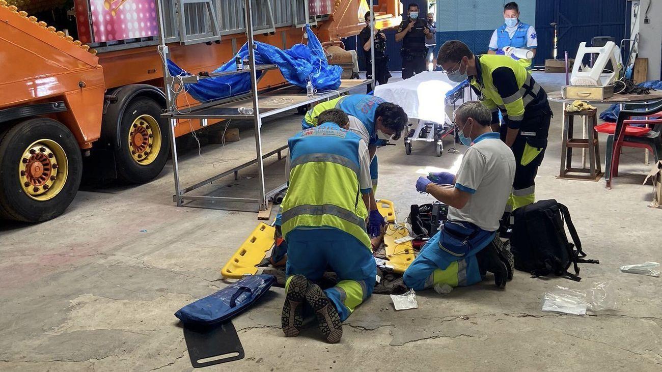 Intervención del SUMMA 112 en un accidente laboral