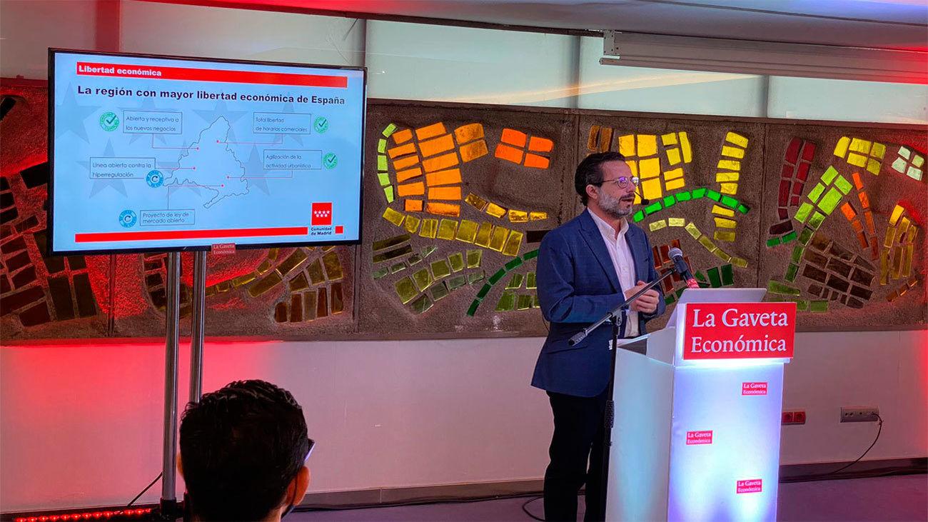 Lasquetty defiende el modelo madrileño: libertad, seguridad jurídica y bajos impuestos