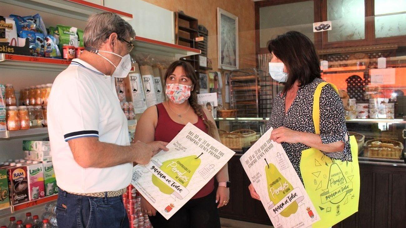 Inicio de la campaña de apoyo al comercio de Perales de Tajuña