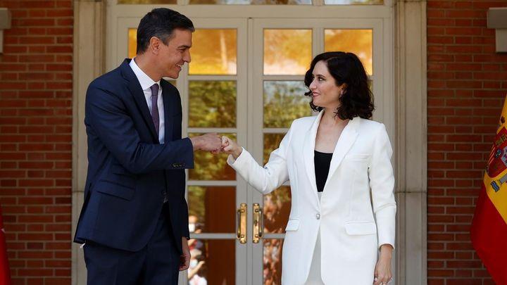 """Ayuso pide a Sánchez ayuda para el plan de natalidad y le recrimina que """"España está secuestrada"""""""