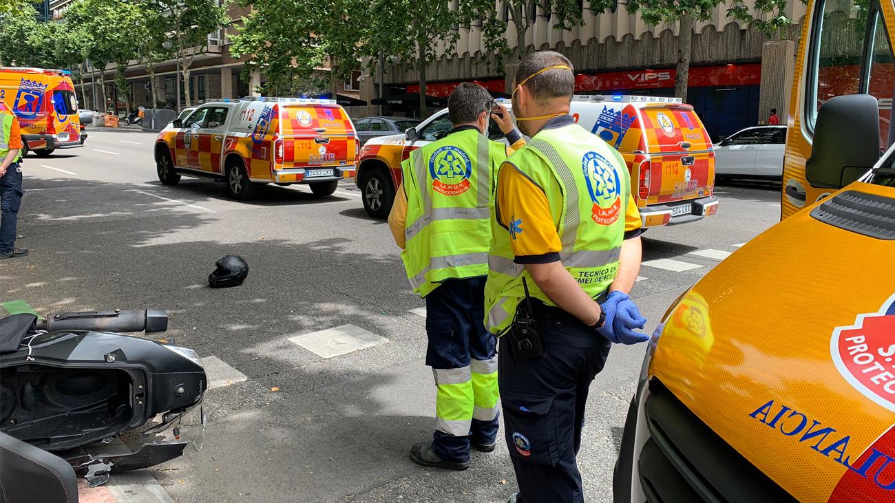 Imagen del lugar del accidente de moto en la calle Velázquez
