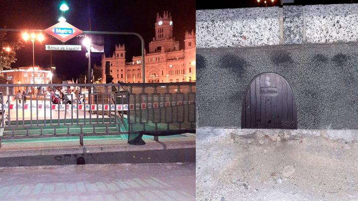 Metro de Madrid arregla la puerta del Ratoncito Pérez en la estación de Banco de España
