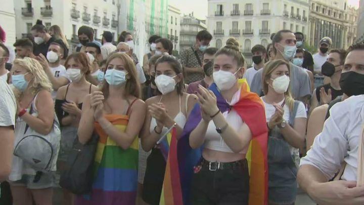 Segunda manifestación en Madrid por la muerte de Samuel Luiz