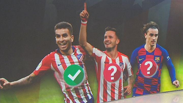 Correa, Saúl y Griezmann, nombres propios en el Atlético de Madrid