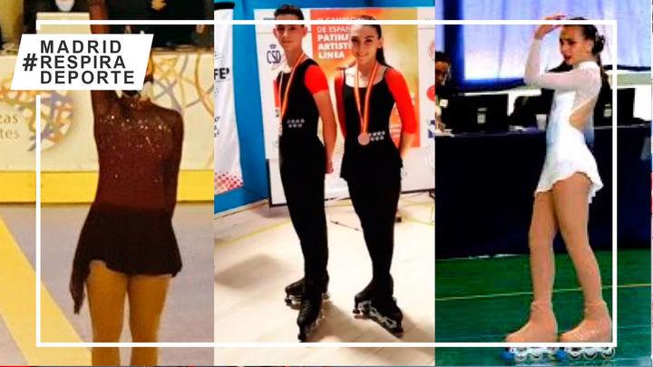 Paula Romaguera, Macarena Pitto, Irene Agustino e Iván Jiménez brillan en el Campeonato de España de patinaje