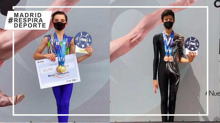 Dos alcalaínos logran tres medallas de oro y dos bronces en el Campeonato de España de gimnasia rítmica