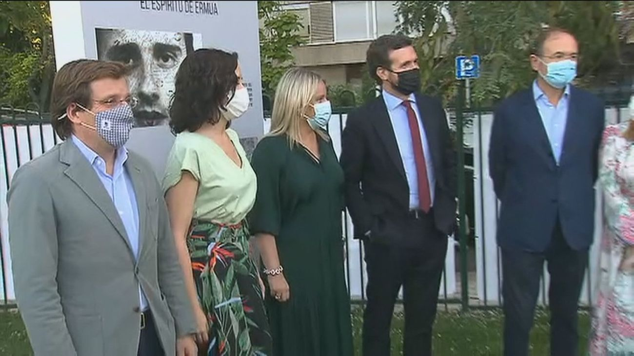 Dirigentes populares en el acto de homenaje a Miguel Angel Blanco