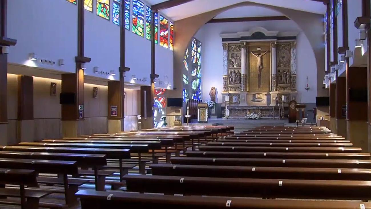 Interior de Nuestra Señora del Carmen, en Pozuelo de Alarcón