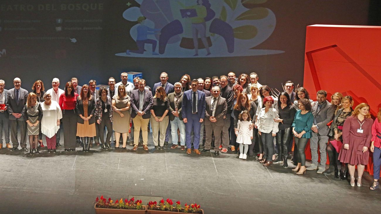 Algunos de los galardonados en la anterior edición de los Premios Ciudad de Móstoles