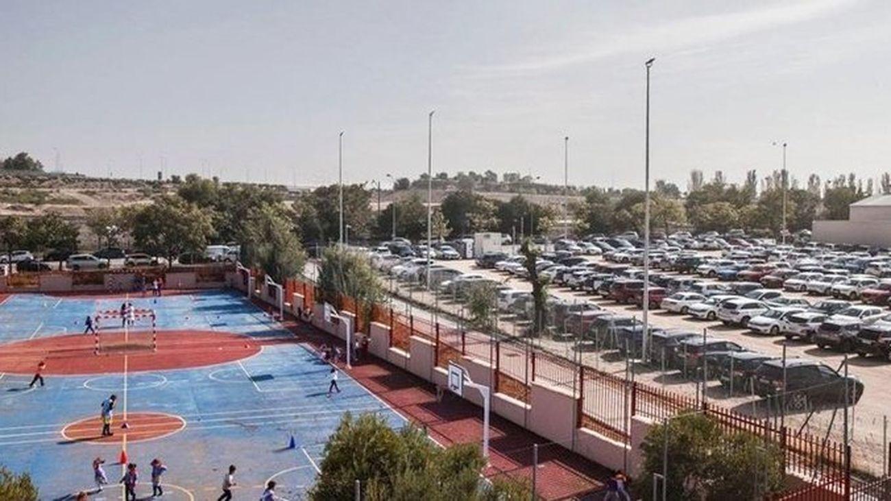Imagen de archivo del aparcamiento de Iberdrola junto a las instalaciones del colegio