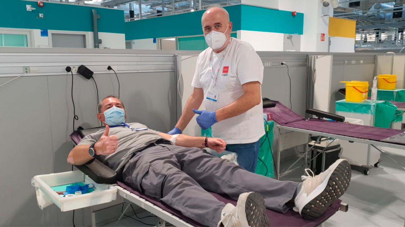 Donante de sangre en el Hospital Zendal